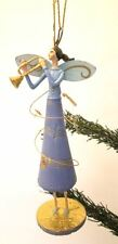 GISELA GRAHAM Christmas music fairy & trumpet horn quirky unusual angel ornament