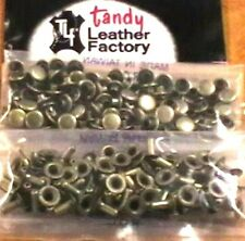100 Pack of ANTIQUE BRASS Plate SMALL RAPID RIVETS 1271-15 Tandy Leather Rivet