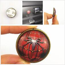 2 ordinateurs circulaire boutons Spiderman Badge Logo voiture intérieur métal / époxy autocollants 3m