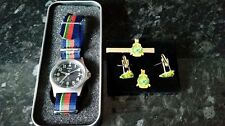 MWC G1098 watch with Royal Marine strap with RM Cufflink set Bundle