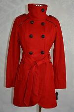 Guess  Wool blend, double breasted rouge colored coat  size S   NWT
