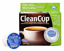 Clean Cup Single Cup Brewing Cleaning Cups, 0.25-Ounce, Brown/Green, 5-Pack , Ne