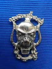 MOTORHEAD VINTAGE METAL BUTTON BADGE FROM THE 1980's - fastening a safety pin