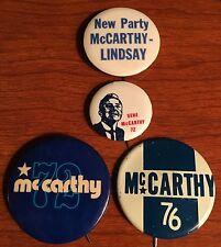 Four Nice Gene McCarthy Pinback Buttons