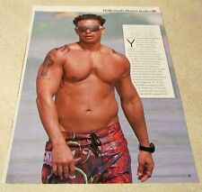 Shirtless PAUL DELVECCHIO Pauly D 8X10 PINUP Clipping Celebrity Male Tattoos