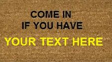 Personalised Coir Doormat 70x40 GIN / PROSECCO/ ALCOHOL Coir Internal Door/Floor