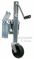 New Weld-on Trailer Tongue Jack with Wheel 1000 Ibs Capacity Swivel Bolt
