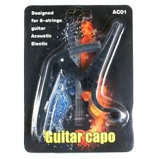 D24 New Quick Change Acoustic/ Electric Guitar Capo lightweight Black