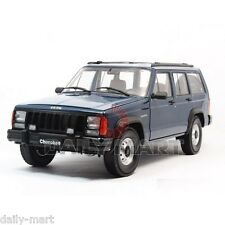 1/18 Scale JEEP CHEROKEE 2500 (BLUE) DieCast Toy Car Model