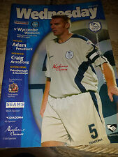 Sheffield Wednesday v Wycombe Wanderers, 2003-04