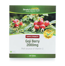 Simply Supplements Goji Berry Extract 2000mg 120 Tablets (B198)