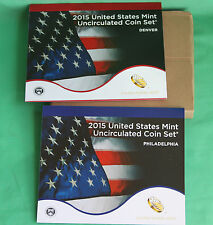 2015 ANNUAL US Mint Uncirculated Coin Set 28 P and D Minted Coins + COA UNOPENED