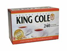 """KING COLE"" CANADA ORANGE PEKOE BLACK TEA BAGS -240 PK"