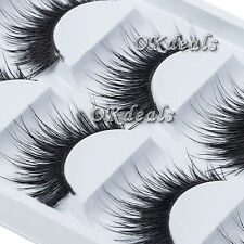 Natural Thick 5 Pairs Makeup False Eyelashes Long Handmade Eye Lashes Extension