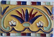 Antique Ceramic Tile, Bright Colors