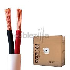 Speaker wire audio cable 2 conductors 16 AWG gauge CL2 in wall 50ft 16/2 bulk
