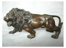 Chinese copper lion statue