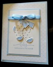 Stampin Up Card Kit - Baby - Set of 4 Cards - 2 boy and 2 girl