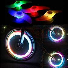 2 X MULTI COLOUR Bike Bicycle Cycling Wheel Spoke Wire Tyre Bright LED Flash