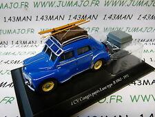Voiture 1/43 ELIGOR  renault 4CV n° 27 remorque Congés payés Luxe R1062 1951