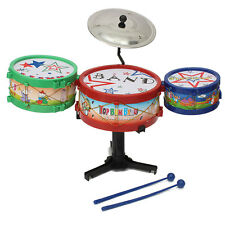 Mini Drum Toy Children Kids Kit Set Musical Instruments Plastic Band Colorful