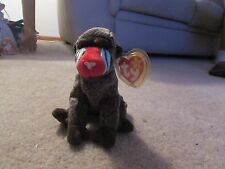 Ty Beanie Babies - Cheeks the Baboon - with Tag Errors