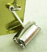 Vintage Sterling Silver Articulated Moving Push Lawn Mower Bracelet Charm