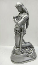 Joan of Arc Statue Aged Silver 19.5""
