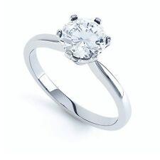 0.50 Carat Round Diamond 6 Claw Set Solitaire Engagemet Ring , 950 Platinum