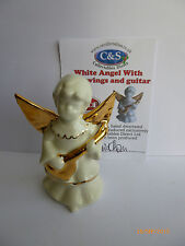 WADE LUSTRE ANGEL WITH GOLD WINGS AND GUITAR LE 25