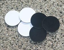 6x NFC Tag On-metal Sticker NTAG203 30mm Aufkleber schwarz/weiß Outdoor wasserd.