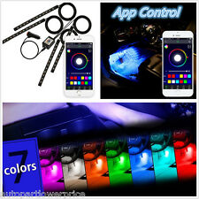 Multi-Colors 4in1 9LED Footwell Atmosphere Lights Lamps RGB APP Music Control
