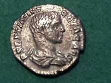Roman Silver coin  Geta as Caesar 198-204 AD Great portrait &reverse