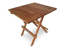 TEAK GARDEN PATIO FURNITURE FOLDING SQUARE COFFEE  PICNIC TABLE