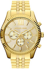 Michael Kors Gent's Lexington Cronografo Gold Tone Designer Watch mk8281