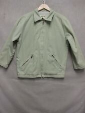 Z6887 Eddie Bauer mens light green long sleeve zip up lined jacket size XS.