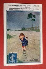 CPSM. Illustrateur Donald Mc GILL. Comique. N°3868. Petit Garçon sous la Pluie.