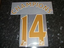 Official Sporting id 2014 Manchester City Champions 14 Gold Shirt Print Set