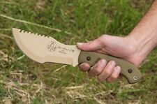 "TOPS USA 12""  NEW COYOTE - TOM BROWN TRACKER #1 SURVIVAL KNIFE CARBON STEEL $299"