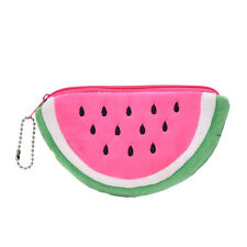 Watermelon Plush Stationery Pencil case Pen Purse Bag Lovely Cosmetic Bag PinkHU