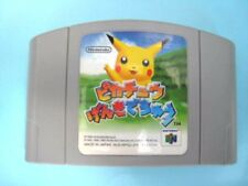 Pikachu Genki De Chu Nintendo 64 Game software Japanese FREE Shipping USED