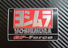 MOTOCROSS  YOSHIMURA USA PLATE ALUMINIUM EXHAUST DECAL EMBLEM LOGO PIPE BIKE