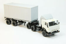 KamAZ 54112 USSR tractor unit + Semi-trailer (container) grey kam54112Semig 1:43