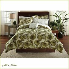BEAUTIFUL 8 PC COMFORTER SET TROPICAL PALM TREE LEAVES OCEAN BEACH BEDDING QUEEN