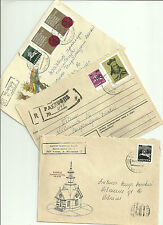 LITHUANIA- ANOTHER 6 REGISTERED COVERS TO CHICAGO ( U.S.A.) & VILNIUS