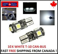 10X T10 WHITE 194 168 1W 5SMD LED No Error Canbus Side Lamp Wedge Light Bulb