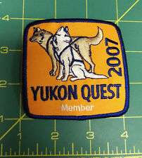 Alaska Yukon Quest 1000 mile Dog Sled Race Embroidered Patch 2007 - Member