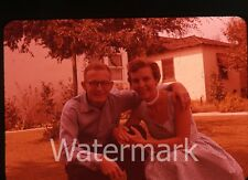 1950s 35mm amateur photo slide Man and lady couple