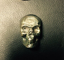 Mk Barz And Bullion 2 Tr/Oz 3D Skull .999 Fine Silver Hand Poured Dark Patina