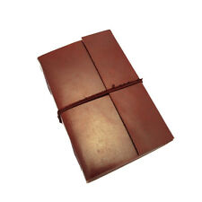 Fair Trade Handmade Eco XL Plain Leather Journal Notebook Diary 2nd Quality